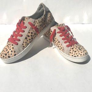 Dolce Vita Zalen Leopard Leather Sneaker 8.5